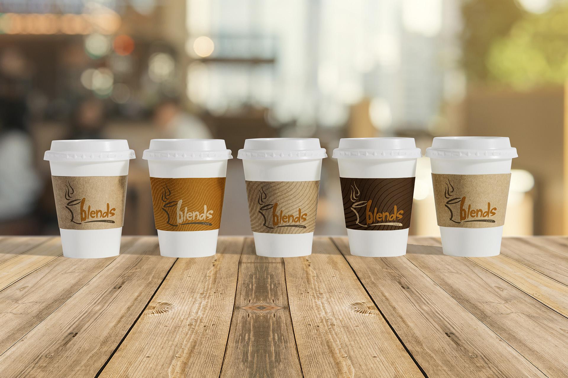 Blends Cafe cups