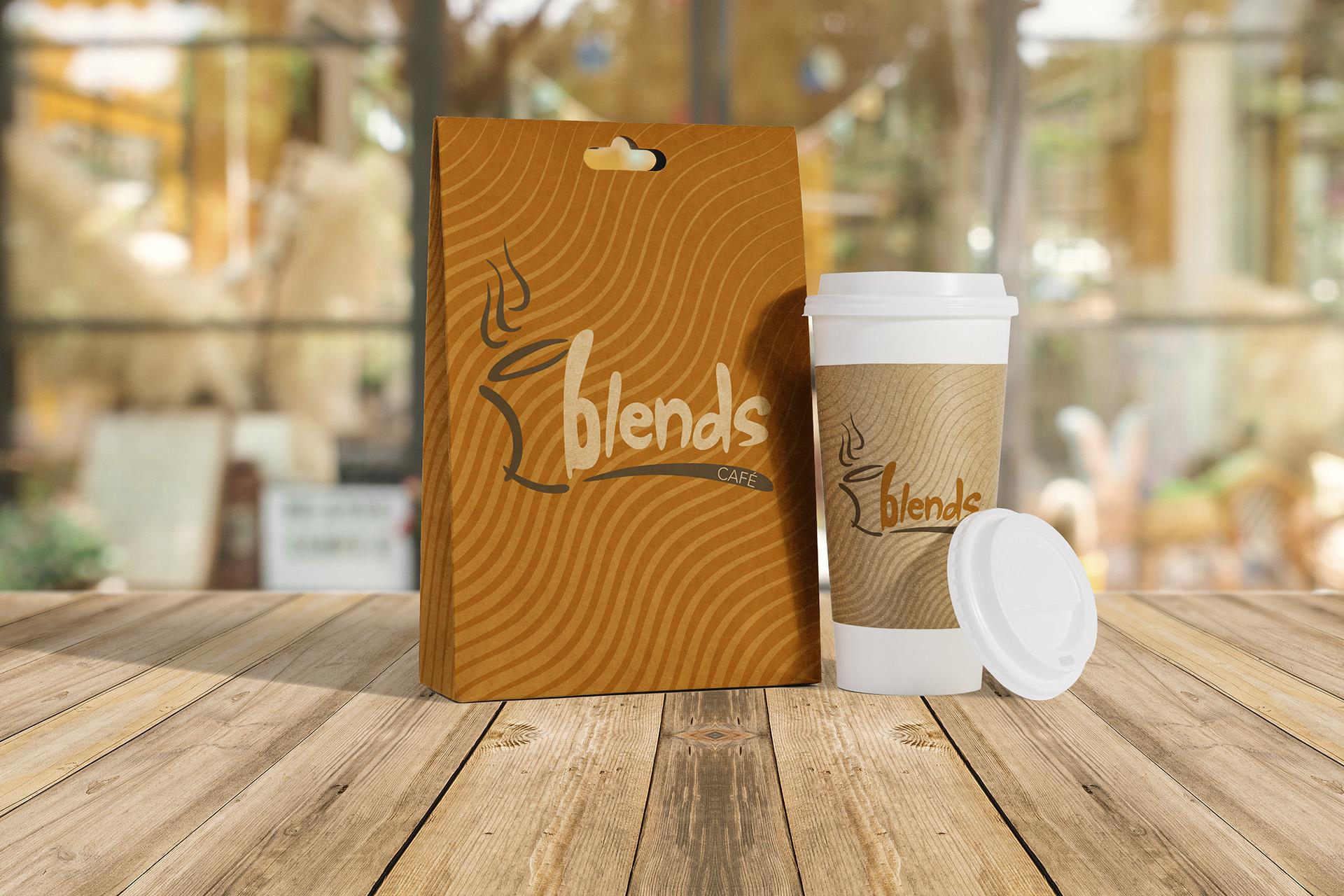 Blends Cafe paper bag & cup