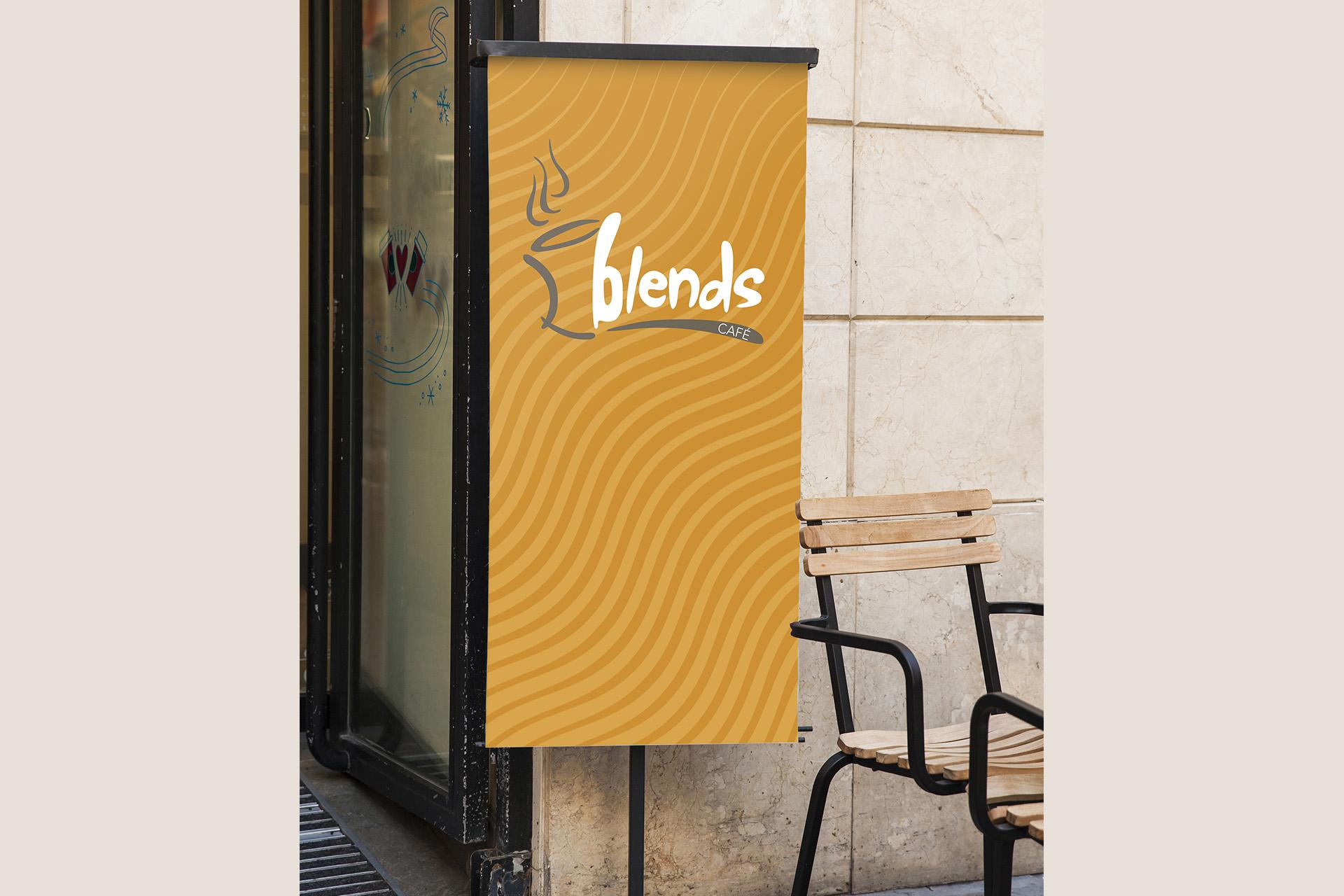 Blends Cafe signage